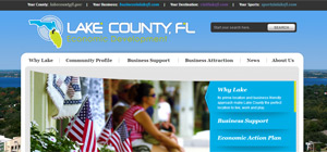 Lake County Economic Development - Website Portfolio Item