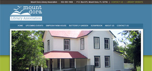 Mount Dora Library Association - Website Portfolio Item